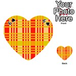 Check Pattern Playing Cards 54 (Heart)  Front - Spade6