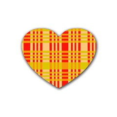 Check Pattern Rubber Coaster (Heart)
