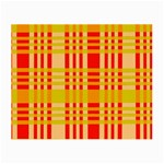 Check Pattern Small Glasses Cloth (2-Side) Back