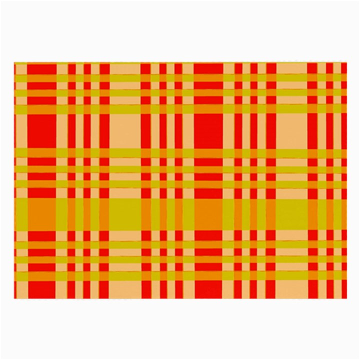 Check Pattern Large Glasses Cloth