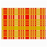 Check Pattern Large Glasses Cloth (2-Side) Front