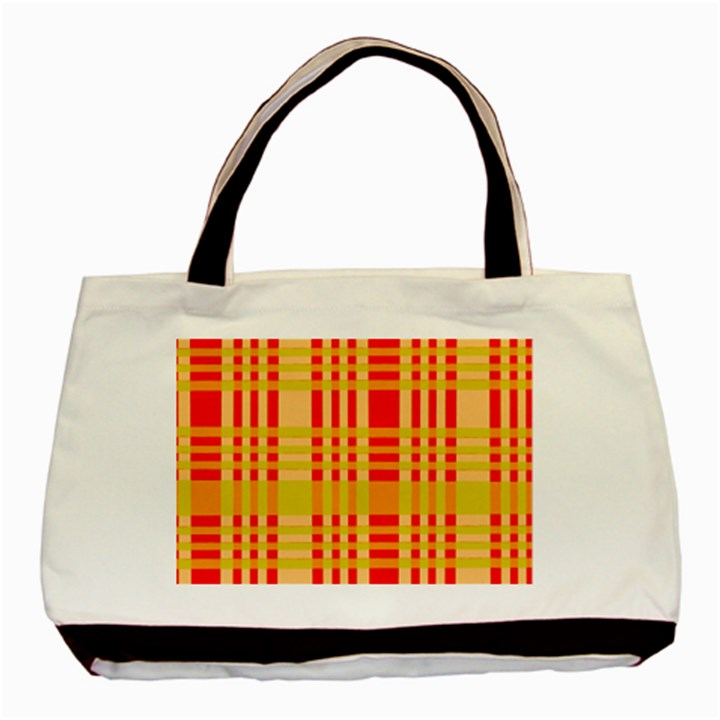 Check Pattern Basic Tote Bag (Two Sides)