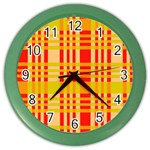Check Pattern Color Wall Clocks Front