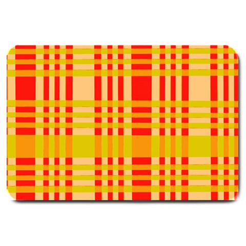 Check Pattern Large Doormat