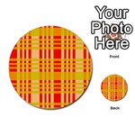 Check Pattern Multi-purpose Cards (Round)  Front 1