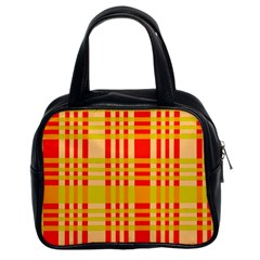 Check Pattern Classic Handbags (2 Sides)