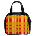 Check Pattern Classic Handbags (2 Sides) Front