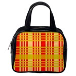 Check Pattern Classic Handbags (2 Sides) Back