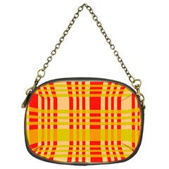 Check Pattern Chain Purses (One Side)