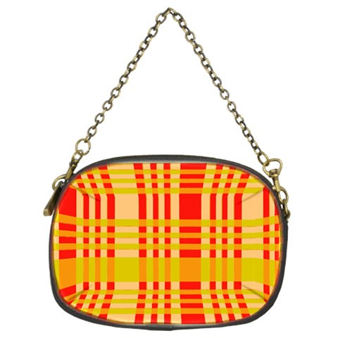 Check Pattern Chain Purses (Two Sides)