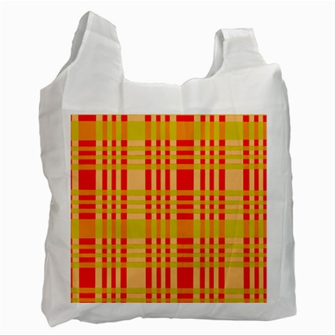 Check Pattern Recycle Bag (One Side)