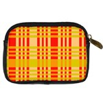 Check Pattern Digital Camera Cases Back