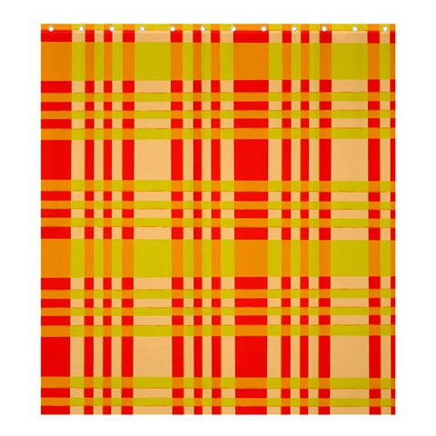 Check Pattern Shower Curtain 66  x 72  (Large)