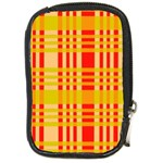 Check Pattern Compact Camera Cases Front