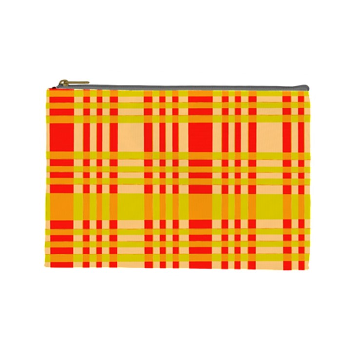 Check Pattern Cosmetic Bag (Large)