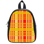 Check Pattern School Bags (Small)  Front
