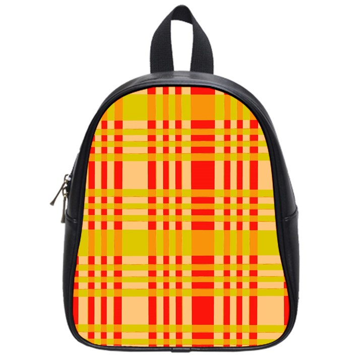 Check Pattern School Bags (Small)