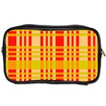 Check Pattern Toiletries Bags Front