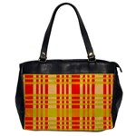 Check Pattern Office Handbags Front