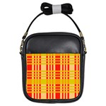 Check Pattern Girls Sling Bags Front