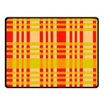 Check Pattern Fleece Blanket (Small) 50 x40 Blanket Front