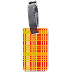 Check Pattern Luggage Tags (One Side)