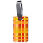 Check Pattern Luggage Tags (One Side)  Front
