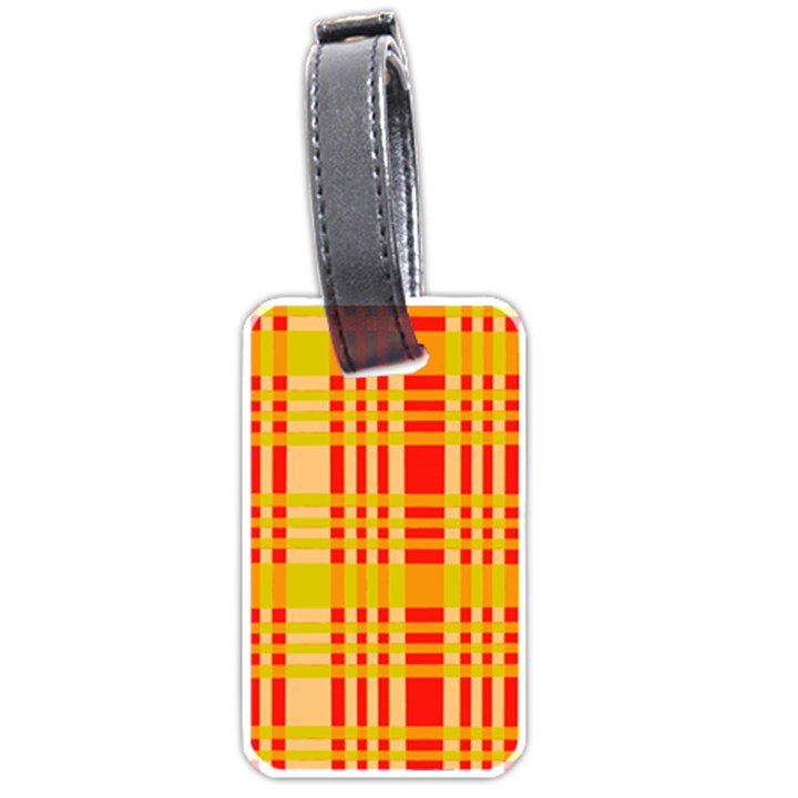 Check Pattern Luggage Tags (Two Sides)