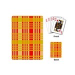 Check Pattern Playing Cards (Mini)  Back