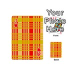 Check Pattern Playing Cards 54 (Mini)  Front - HeartJ