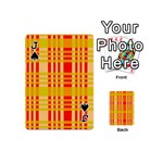 Check Pattern Playing Cards 54 (Mini)  Front - SpadeJ