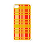 Check Pattern Apple iPhone 4 Case (White) Front