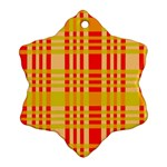 Check Pattern Ornament (Snowflake)  Front
