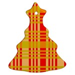Check Pattern Christmas Tree Ornament (2 Sides) Back
