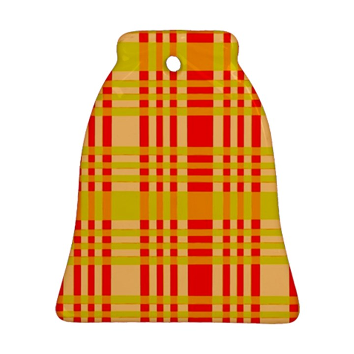 Check Pattern Bell Ornament (2 Sides)