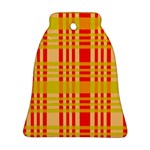 Check Pattern Bell Ornament (2 Sides) Back
