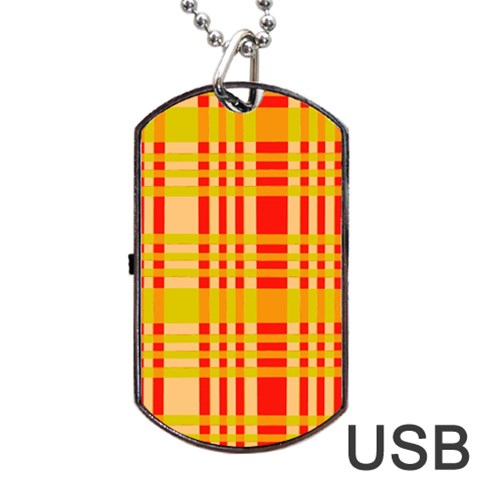 Check Pattern Dog Tag USB Flash (One Side)