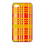 Check Pattern Apple iPhone 4/4s Seamless Case (Black) Front