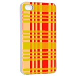 Check Pattern Apple iPhone 4/4s Seamless Case (White) Front