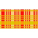 Check Pattern Congrats Graduate 3D Greeting Card (8x4) Front