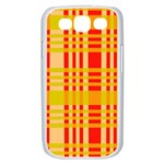 Check Pattern Samsung Galaxy S III Case (White) Front