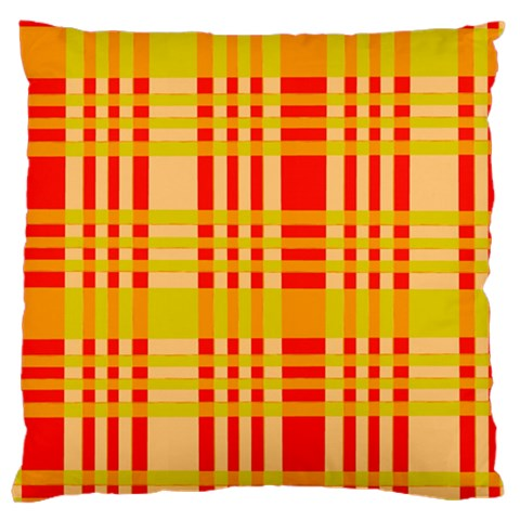 Check Pattern Large Cushion Case (One Side)