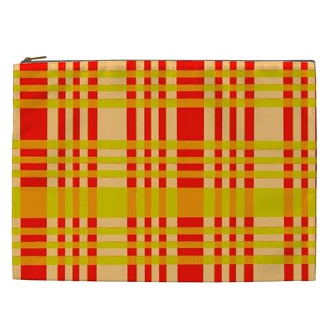 Check Pattern Cosmetic Bag (XXL)
