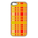 Check Pattern Apple iPhone 5 Case (Silver) Front