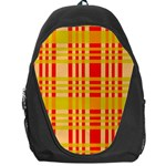 Check Pattern Backpack Bag Front