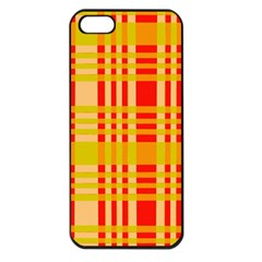 Check Pattern Apple iPhone 5 Seamless Case (Black)