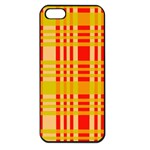 Check Pattern Apple iPhone 5 Seamless Case (Black) Front