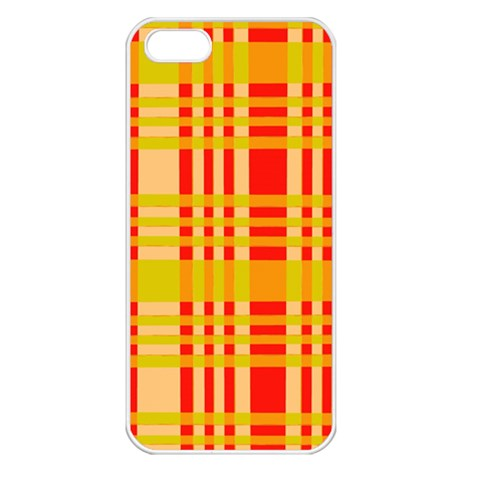 Check Pattern Apple iPhone 5 Seamless Case (White)