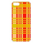 Check Pattern Apple iPhone 5 Seamless Case (White) Front