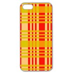 Check Pattern Apple Seamless iPhone 5 Case (Clear) Front